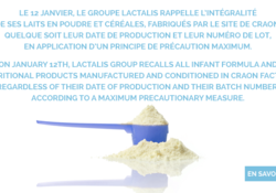 Le retrait de lot en pharmacie, l'exemple de Lactalis